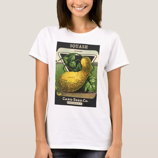 Vintage Seed Packet Label Art Yellow Summer Squash T-Shirt