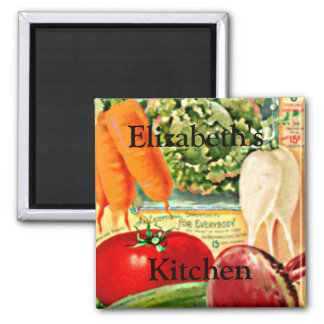 Vintage Seed Packet-Vegetables Personalize it! 2 Inch Square Magnet