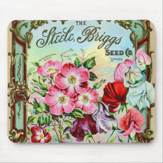 Vintage Seeds Plants and Bulbs Catalog Cover Mouse Pad