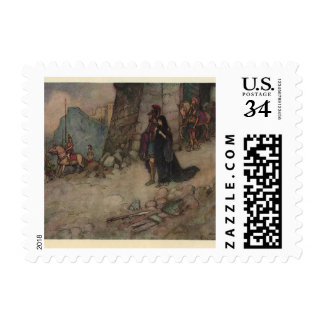 Vintage Seize of Troy Painting Stamp