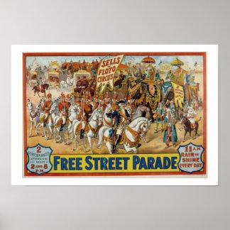 Vintage Sells Floto Circus Parade poster 1921