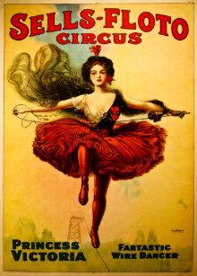 Vintage Sells Floto Circus Poster