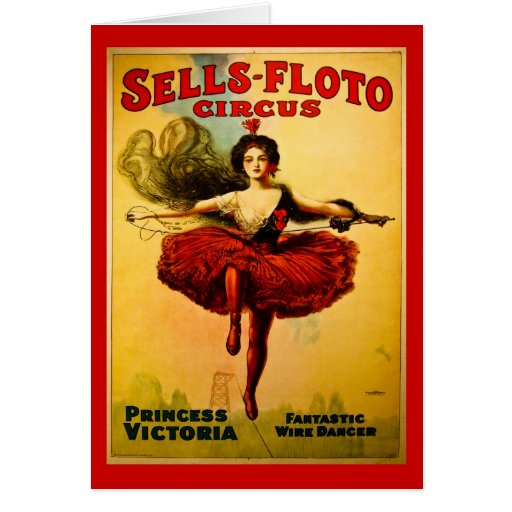 Vintage Sells-Floto Circus Poster Greeting Card