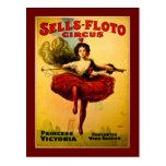 Vintage Sells-Floto Circus Poster Postcard