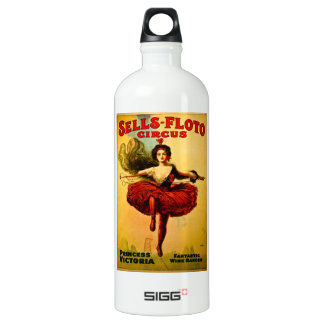 Vintage Sells-Floto Circus Poster Wire Walker Water Bottle