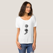 Vintage Semicolon Boyfriend Shirt