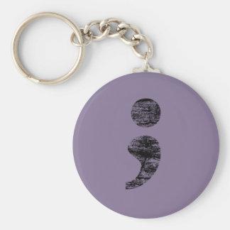 Vintage Semicolon Keychain