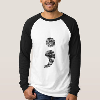 Vintage Semicolon mens raglan T-Shirt