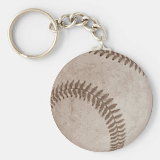 Vintage Sepia Baseball Keychain