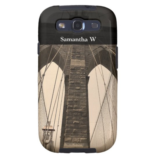 Vintage Sepia Brooklyn Bridge Galaxy S3 Cover