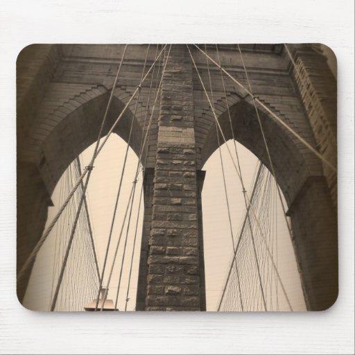Vintage Sepia Brooklyn Bridge Mouse Pad