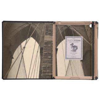 Vintage Sepia Brooklyn Bridge New York Cover For iPad