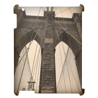 Vintage Sepia Brooklyn Bridge New York iPad Cover