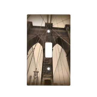 Vintage Sepia Brooklyn Bridge New York Light Switch Cover
