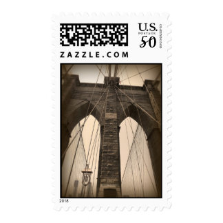Vintage Sepia Brooklyn Bridge Postage