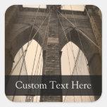 Vintage Sepia Brooklyn Bridge Stickers