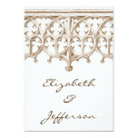 Vintage Sepia Cathedral Wedding Invitations