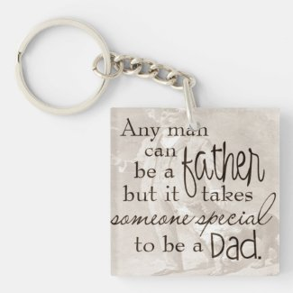 Vintage Sepia Father's Day Keychain