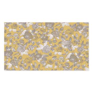 Vintage Sepia Floral Print Pattern Business Card