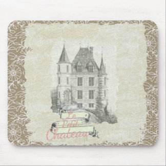 Vintage Sepia French Chateau Collage Mouse Pad