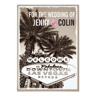 Vintage Sepia Las Vegas Modern Wedding Invites Custom Invitations