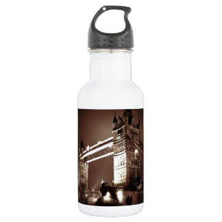 Vintage Sepia London Tower Bridge 18oz Water Bottle