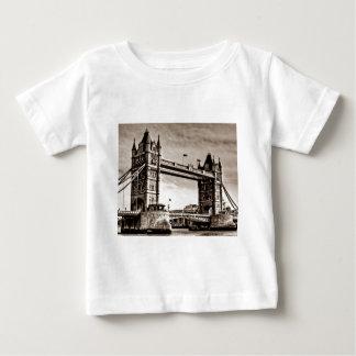 Vintage Sepia London Tower Bridge Baby T-Shirt