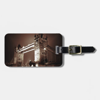 Vintage Sepia London Tower Bridge Bag Tag