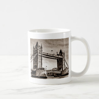 Vintage Sepia London Tower Bridge Coffee Mug