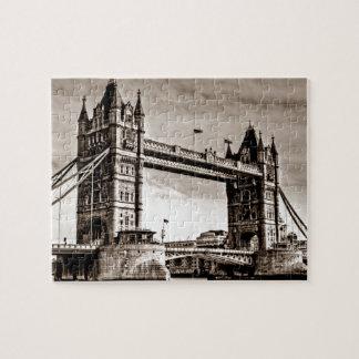 Vintage Sepia London Tower Bridge Jigsaw Puzzle