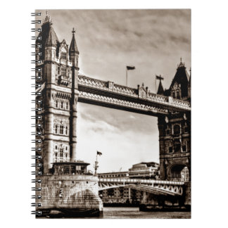 Vintage Sepia London Tower Bridge Notebook