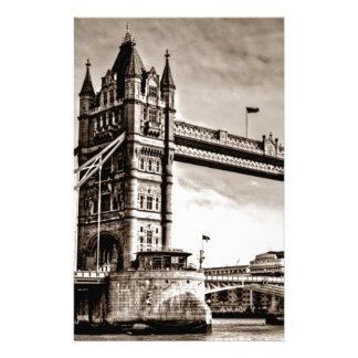 Vintage Sepia London Tower Bridge Stationery