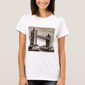 Vintage Sepia London Tower Bridge T-Shirt