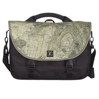 Vintage Sepia Map of Paris, France Bag For Laptop
