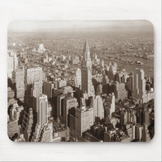 Vintage Sepia Tone New York Mouse Pad