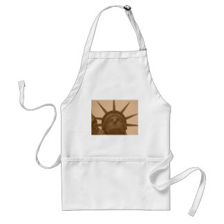 Vintage Sepia Tone Statue of Liberty Adult Apron