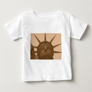 Vintage Sepia Tone Statue of Liberty Baby T-Shirt