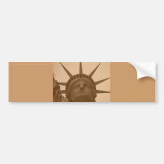 Vintage Sepia Tone Statue of Liberty Bumper Sticker