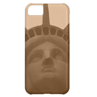 Vintage Sepia Tone Statue of Liberty iPhone 5C Cover