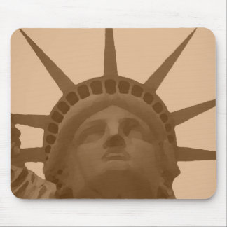 Vintage Sepia Tone Statue of Liberty Mouse Pad