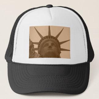 Vintage Sepia Tone Statue of Liberty Trucker Hat