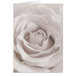 Vintage Sepia White & Cream Rose Background Custom Stationery Note Card