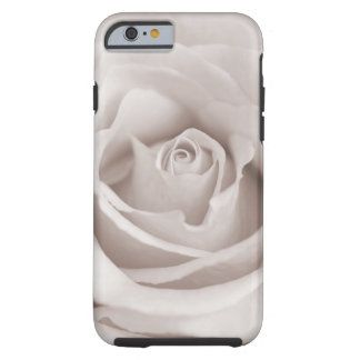 Vintage Sepia White & Cream Rose Background Custom Tough iPhone 6 Case