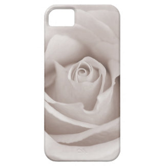 Vintage Sepia White & Cream Rose Background Custom iPhone 5 Covers