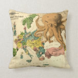 Vintage Serio Comic War Map For The Year 1877 Pillows