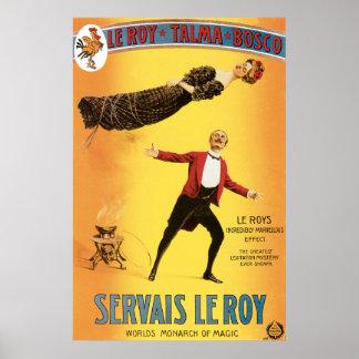 Vintage Servais Le Roy Magician Poster