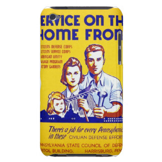 Vintage Service on the Home Front WPA Poster Barely There iPod Cases