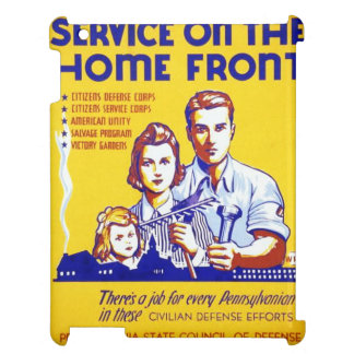 Vintage Service on the Home Front WPA Poster Case For The iPad