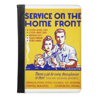 Vintage Service on the Home Front WPA Poster iPad Air Case