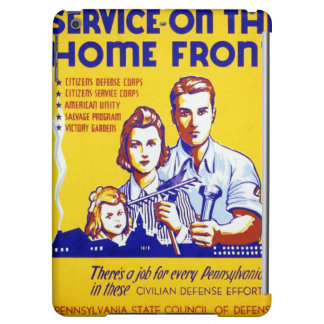 Vintage Service on the Home Front WPA Poster iPad Air Cover